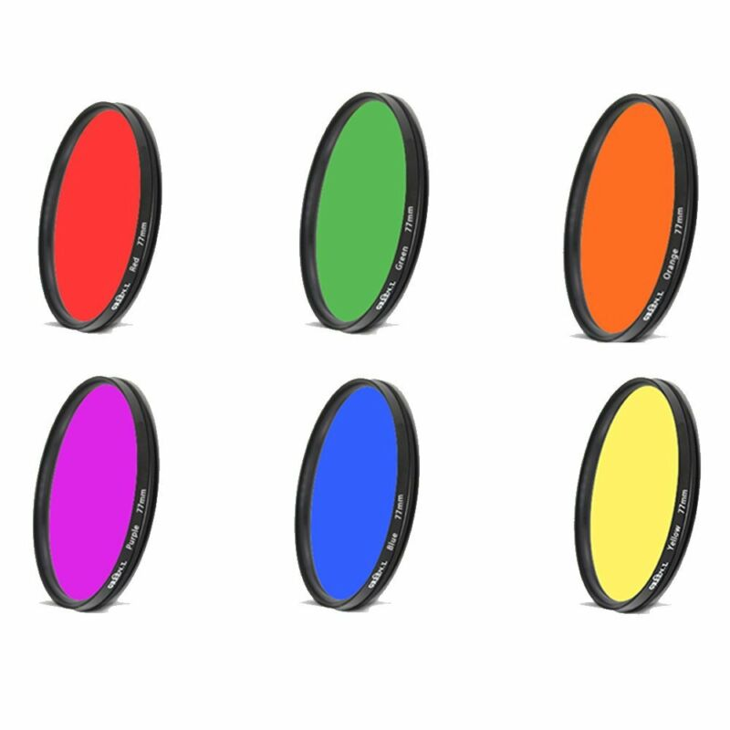Color Lens Filter 25 27 28mm Orange Red Purple Yellow for camera accessories