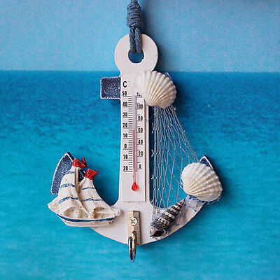 Indoor Outdoor Thermometer Centigrade/Fahrenheit Scale Anchor hook Home Decor