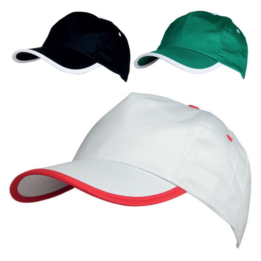 BASEBALL CAP 100% COTTON ADULT SIZE Sports Peak Hat Unisex 6 Panel Adjustable UK