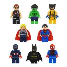 8pcs avengers mini figures cake toppers kids toys new