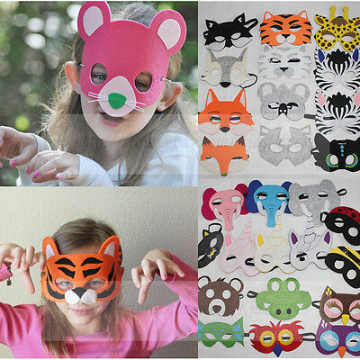Kids Animal Masks Animal Wolf Tiger Costume Halloween Party favor Felt - Halloween Costume Party Animal