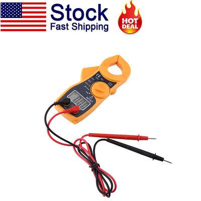 Digital Clamp Meter Multimeter Ac Dc Voltmeter Range Volt Ohm Amp Tester Us