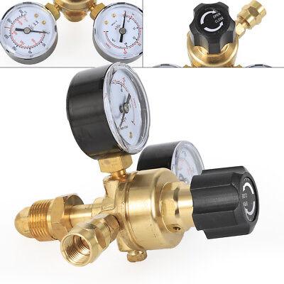 Cga580 Welding Gas Meter Argon Co2 Pressure Flow Regulator Welder Gauge Valve