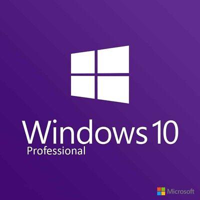 Microsoft Windows 10 Pro Professional 32 64Bit Genuine License Key Product Code