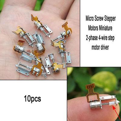 10xset Micro Screw Stepper Motors Miniature 2-phase 4-wire Step Motor Driver