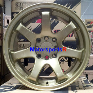 xxr 551 wheels 15 x 8 21 gold concave rims stance 4x100 97 02 honda civic si ex. Black Bedroom Furniture Sets. Home Design Ideas
