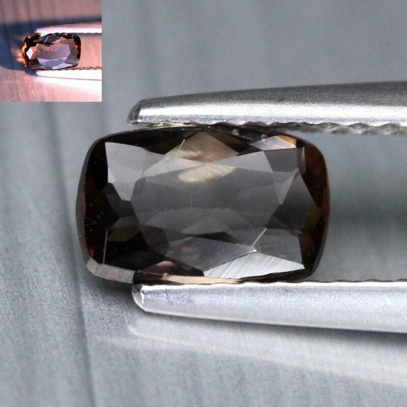 Certificate Include 0.73Cts Natural Color Change Axinite Cushioin Loose Gemstone