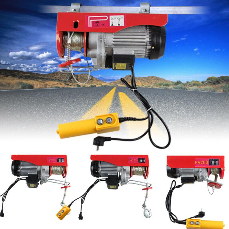 Electric Hoist Winch Lifting Engine Crane Garage Hanging Cable Lift Hook 220V DE