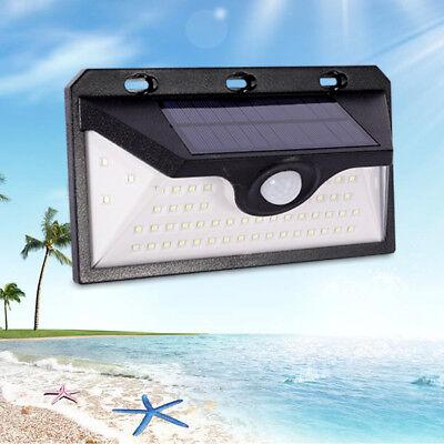 54LED Solar Power Motion Sensor Light Outdoor Powered Security Light