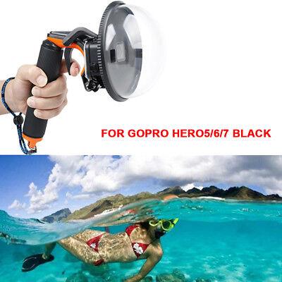 Für Gopro Hero 6/5/7 Dome Port Kameraobjektiv mit Trigger Floaty Grip Waterproof