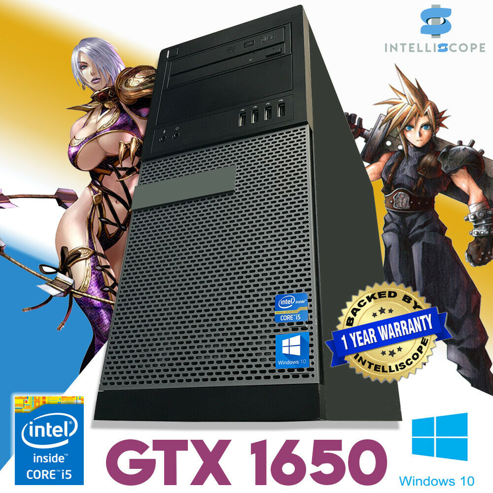 Computer Games - Fast Gaming PC Computer Intel Quad Core i5 16GB Windows 10 4GB GTX 1650 SSD WiFi