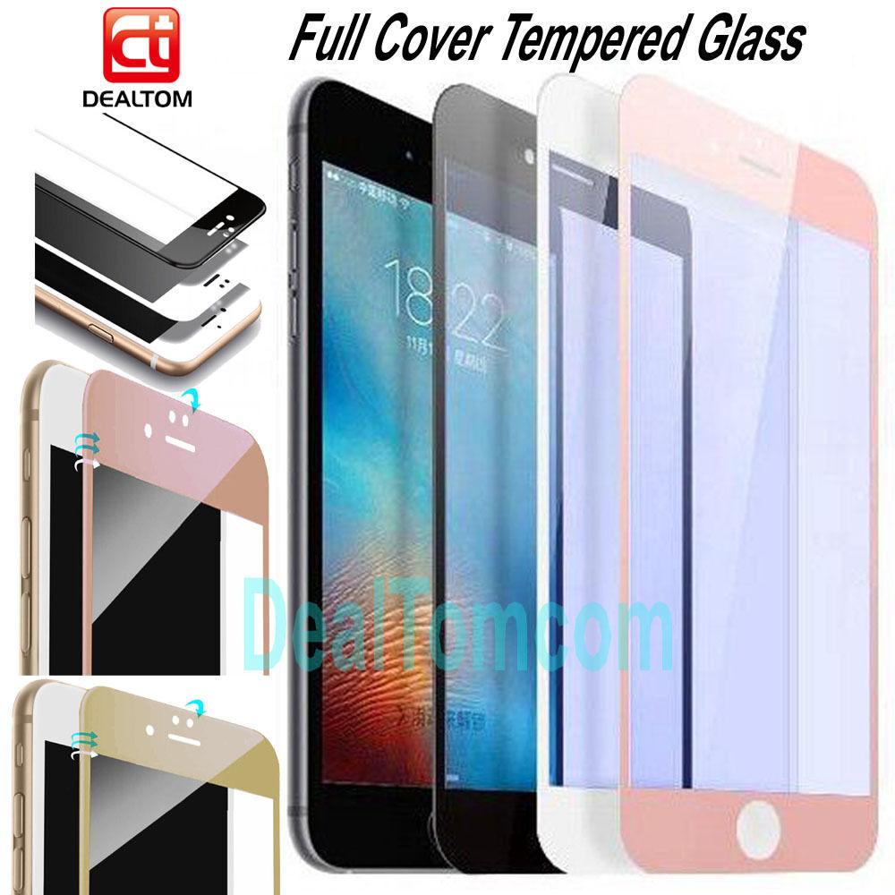 profiter de la livraison gratuite Clairance de 60% revendeur Details about iPhone 7/6S/6/Plus VITRE VERRE TREMPE 3D Film de protection  écran Intégral Total
