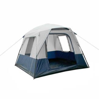 AUS FREE DEL-4 Person Family Outdoor Camping Tent - Navy Grey