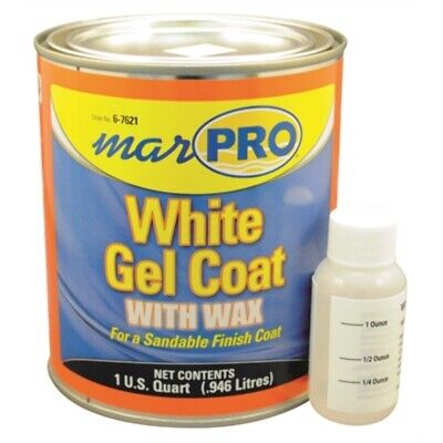 Marpro Gel Coat White with Wax QUART 601110600 6-7621 Boat Fiberglass Marine MD - Gel Coat Wax