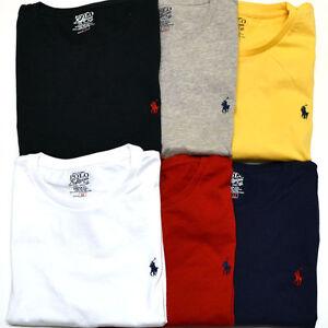 Mens-Ralph-Lauren-Crew-Neck-Custom-Fit-Polo-Classic-Short-Sleeve-T-Shirt-S-XXL