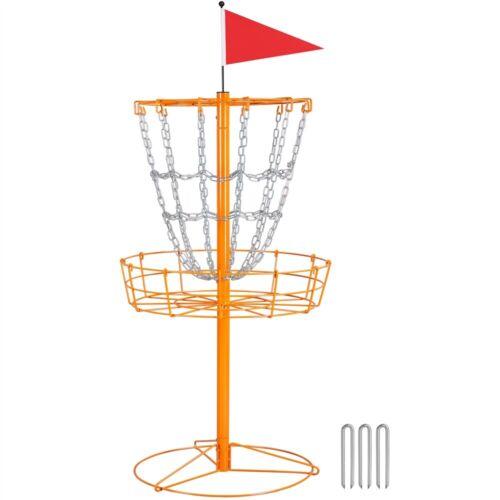 Portable Disc Golf Basket Flying Disc Golf Practice Basket Indoor/Outdoor Orange