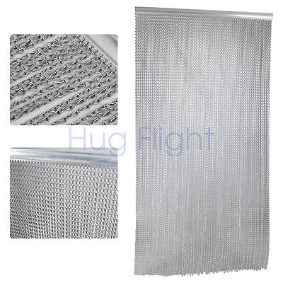 ALUMINUM ALLOY CHAIN DOOR CURTAIN Link Fly Pest Insect Screen Control