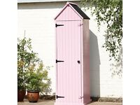 Brighten Garden Shed Pink 3 Half Shelves Wooden Brundle Waterproof Paint Storage Balcony Court Yard