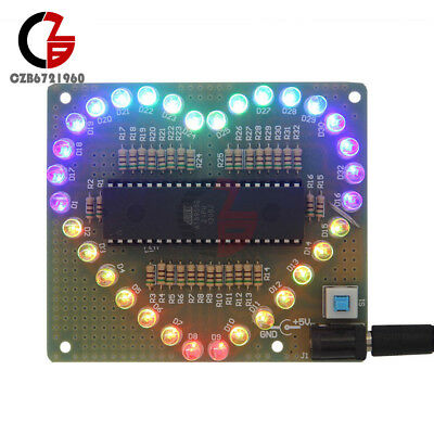 Heart Shaped Led Colorful Light Water Electronic Suite Set Gift Diy Kit