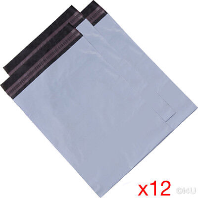 12 X MAILING BAG POSTAL MAILERS PACKAGE SHIPPING STRONG POLY MAIL BAG POST SACK