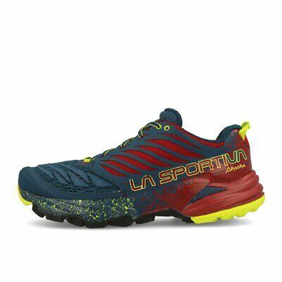 La Sportiva Akasha Opal Chili Laufschuhe Trailschuhe Blau Rot - Sportiva Rot Schuhe