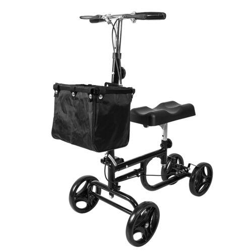 2018 Steerable Foldable Knee Walker Scooter Turning Brake Ba
