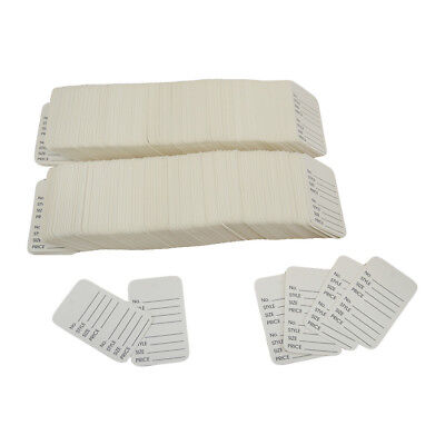 """1000 Pcs Large White Merchandise Coupon Price Tag Perforated 1-3/4""""x 2-7/8"""""""
