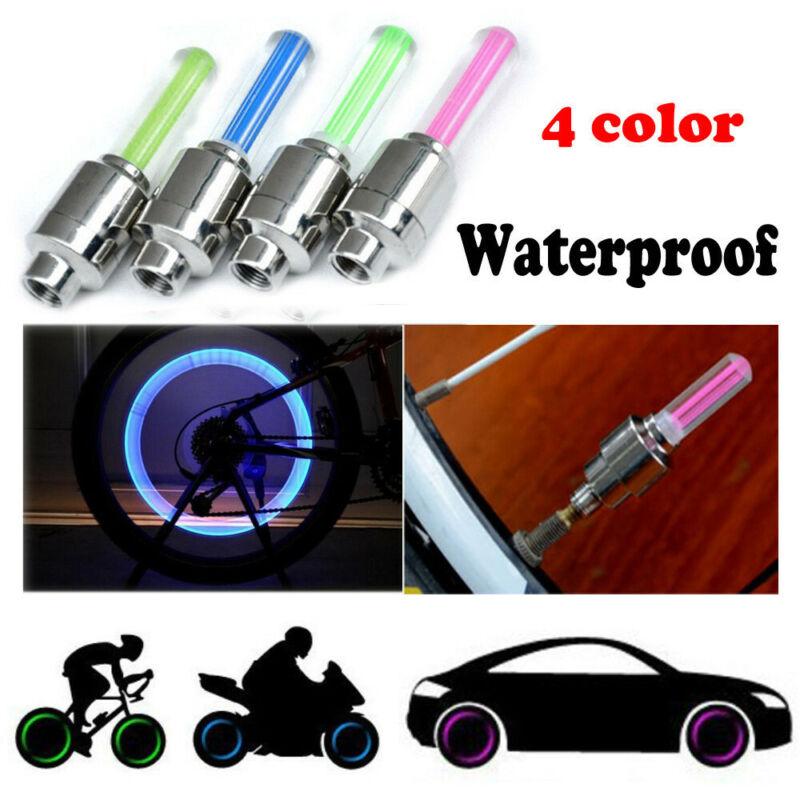 6pcs Wheel Tire Light Spoke Lamp LED Valve Cap Bicycle Cycling Bike Motor USA