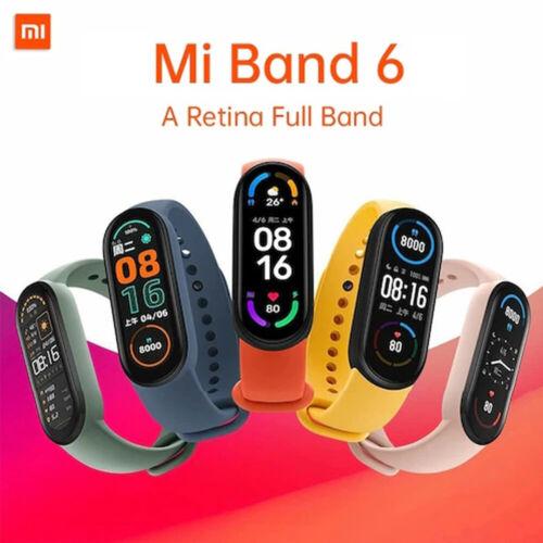 Xiaomi Mi Band 6 AMOLED Smart Watch 5ATM FitnesTracker Waterproof Blood Oxygen