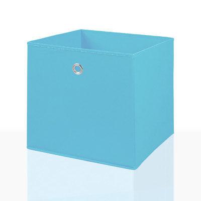 4er Set Faltbox Hellblau 32x32cm Faltkiste Regalbox Aufbewahrungsbox Stoffbox