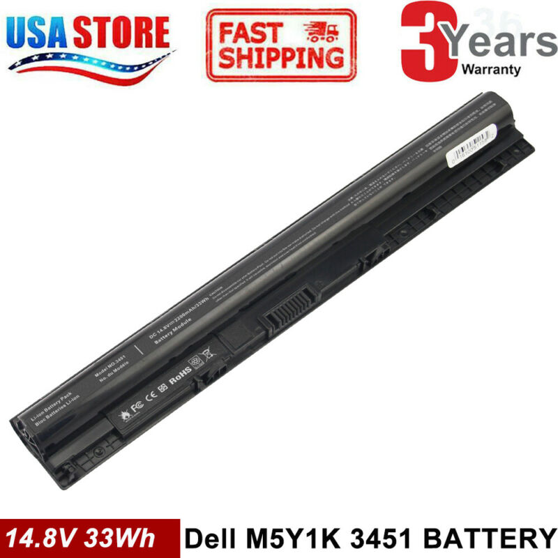 M5Y1K Battery FOR DELL Inspiron 3451 3551 3567 5558 5758 14 15 3000 Series PC