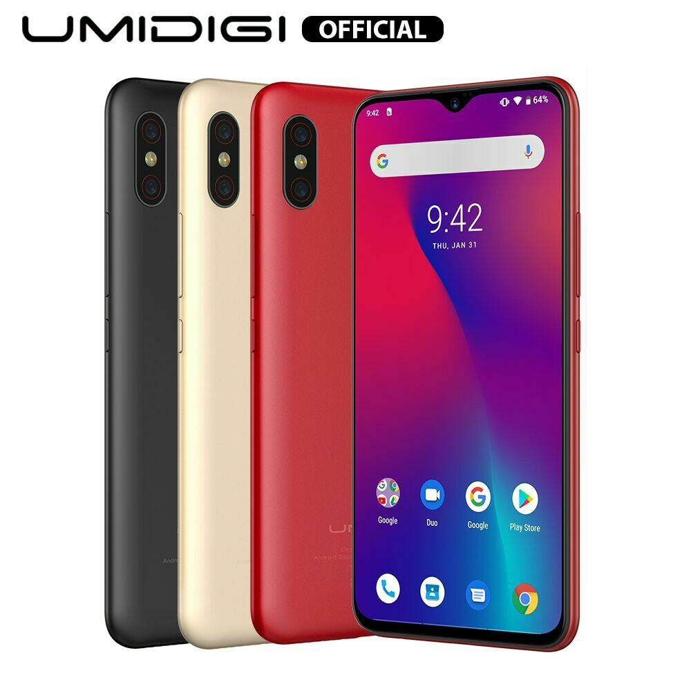 Android Phone - UMIDIGI F1 Android 9.0 128GB + 4GB 6.3'' Smartphone Factory Unlocked Phone NEW
