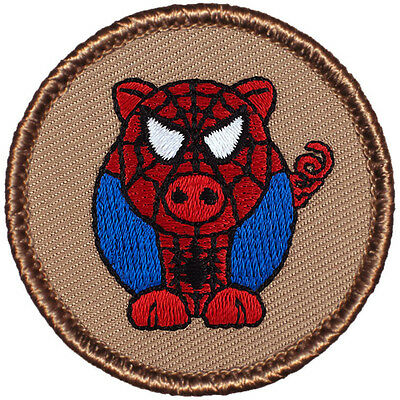 Cool Boy Scout Patch- Spider Pig Costume Patrol! (#279)