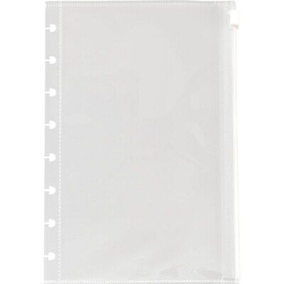 Staples Arc System Poly Zip Pockets Clear 5-1/2
