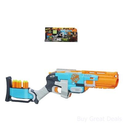 Nerf Fun Zombie Strike Sledgefire Blaster W  3 Reloadable Shell And 9 Darts