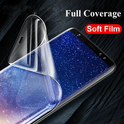 Soft Screen Protector 5D Full Coverage Film Guard For Samsung S10 S8 S9 Plus S7+
