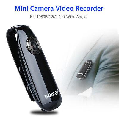 BOBLOV 1080P Mini Dash Camera Clip Video Camcorder View Angle For Police Body