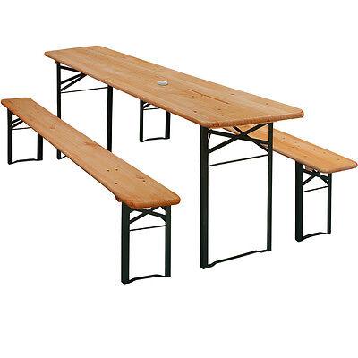 Festzeltgarnitur Bierzeltgarnitur Sitzgarnitur Bierbank Tisch Sitzgruppe Holz