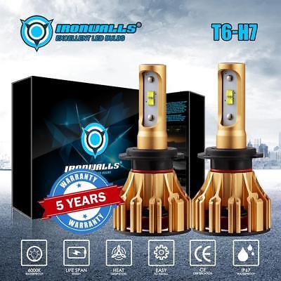 H7 LED Headlight Bulbs Conversion Kit High Low Beam Light Fog Lamp 6500K White