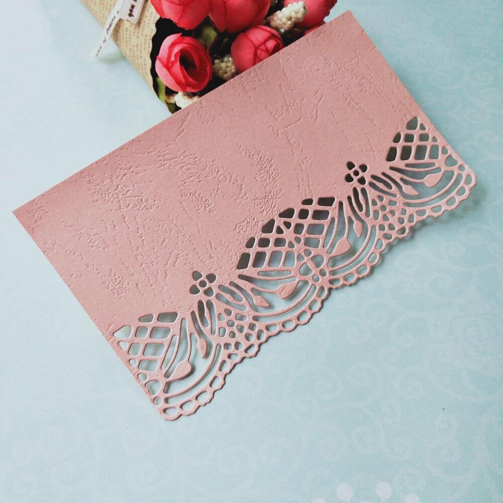 Metal Cutting Dies Cut Round Frame Lace Edge Embossing Scrapbook Paper Craft