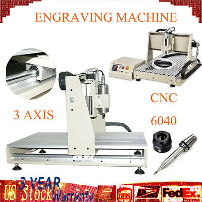 Hot 1.5kw 3axis Vfd Cnc Router 6040 3d Engraver Machine Cut Mill For Woodworking