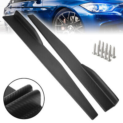 "Pair 31""x4"" Car Carbon Fiber Side Skirts Rocker Splitters Diffuser Winglet Wings"