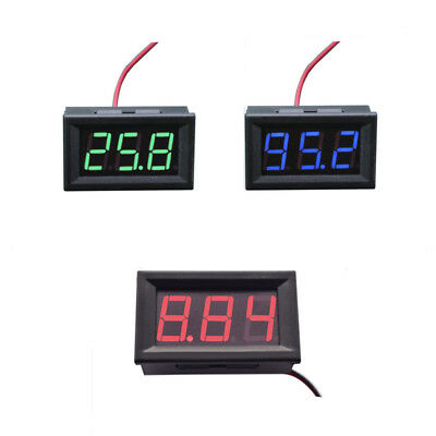 Mini Dc 5-120v Voltmeter Bluered Led Panel 3-digital Display Volt Meter 2-wire