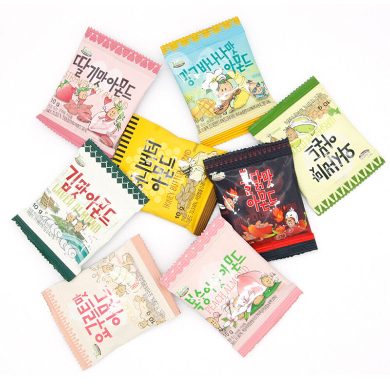 Toms Farm Assorted Flavored Almonds Sampler Snack Care Pack 10g x 8 Packs