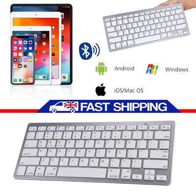 Wireless Bluetooth 3.0 Keyboard Slim For Mac iPad IOS Android Apple Tablet PC UK