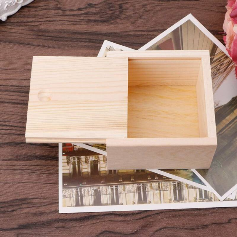 Small Plain Wooden Storage Box Case for Jewellery Small Gadg