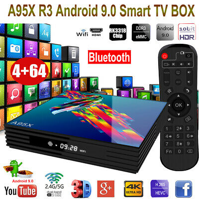 A95X R3 Smart Android 9.0 TV Box RK3318 Quad Core 4GB/64GB UHD 4K Media Player