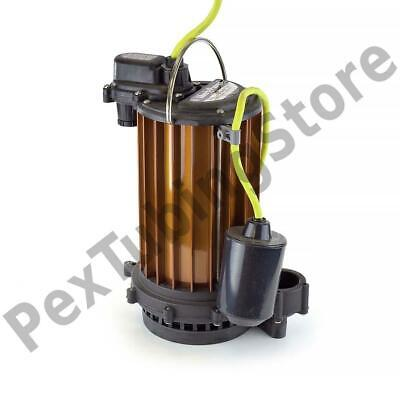 Automatic High Temperature Sump Pump W Float Switch 10 Cord 12 Hp 115v