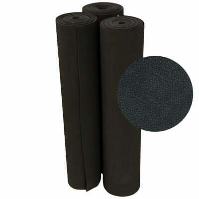 Photo Rubber-Cal Tuff-N-Elastic Black Rubber Flooring Mat - 1/8 x