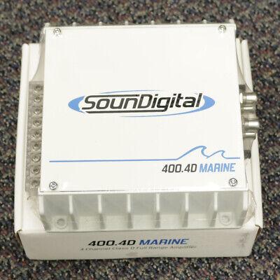 SOUNDIGITAL 400.4D MARINE AUDIO 4 OHM 400W 4-CHANNEL AMPLIFIER 4.CH AMP, usado comprar usado  Enviando para Brazil